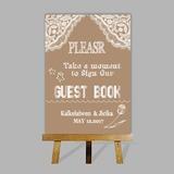 Personalizado Sinal De Livro De Visitas com Cavalete (101201188)