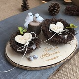 Bird Nest Wood Ring Holder With Twig (103203909)