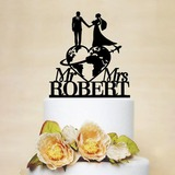 Classic/Mr. & Mrs. Acrylic Cake Topper (119197301)