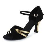 Женщины Лакированная кожа нубук На каблуках Сандалии Латино с Ремешок на щиколотке Обувь для танцев (053021444)