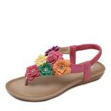 Женщины Плоский каблук Сандалии с Цветок обувь (087201614)