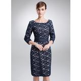 Платье-чехол квадратный вырез Длина до колен кружева Платье Для Матери Невесты (008006193)