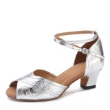 Leatherette Heels Latin Dance Shoes (053200543)