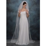 Three-tier Chapel Bridal Veils With Ribbon Edge (006005387)