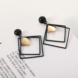 Square Alloy Women's Fashion Earrings (Sold in a single piece) (137197143)