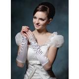 Упругие атласная локоть длина Партии/мода перчатки/Свадебные перчатки (014020510)