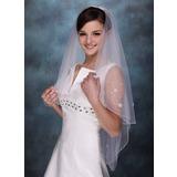 1 couche Voile de mariée longueur coude avec Bord perlé (006005407)