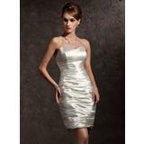 Платье-чехол В виде сердца Мини-платье Шармёз Коктейльные Платье с Рябь (016020631)