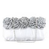 Элегантный атласная/шелк с Цветок Клатчи (012032872)