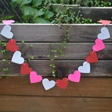A forma di cuore Colorato Carta della carta Banner/Accessori decorativi (131186067)