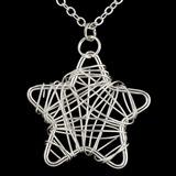 форме звезды посеребренный Женщины ожерелье (137056073)