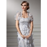 Short Sleeve Tulle Special Occasion Wrap (013012466)