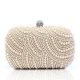 Prächtig Satin/Perle mit Strass Handtaschen (012028129)