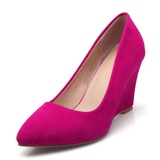 Women's Velvet Wedge Heel Pumps shoes (085191905)