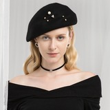 Ladies' Glamourous/Romantic Wool Beret Hat (196178760)