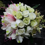 Special Round Artificial Silk Bridal Bouquets (123053211)