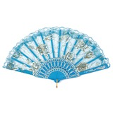 Flower Design Plastic/Lace Hand fan (051046544)