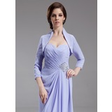 3/4-Length Sleeve Chiffon Special Occasion Wrap (013012329)