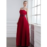 A-Line/Princess Sweetheart Floor-Length Chiffon Bridesmaid Dress With Pleated (007001831)