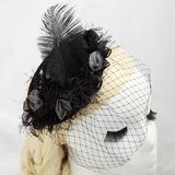 Гламурный Искусственного шелка/перо Вуалью (042057886)