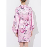 Silk Mom Glitter Print Robes (248176086)