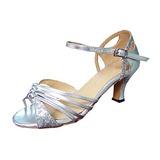 Женщины Мерцающая отделка Лакированная кожа На каблуках Сандалии Латино Бальные танцы Свадьба партия Обувь для танцев (053013230)