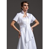 Short Sleeve Satin Special Occasion Wrap (013014583)