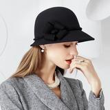 Ladies' Amazing Wool With Flower Floppy Hat (196154614)