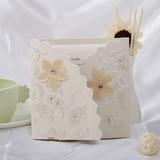 Florales Estilo Tri-Fold Invitation Cards (Juego de 10) (114032361)