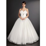 De baile Coração Longos Tule Vestido de noiva com Renda Bordado Lantejoulas (002015490)