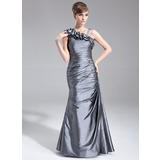 Trumpet/Mermaid Floor-Length Taffeta Mother of the Bride Dress With Ruffle (008005672)