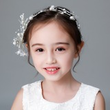 Kids Fashion Rhinestone/Alloy/Imitation Pearls/Silk Flower Tiaras With Rhinestone/Venetian Pearl (Sold in single piece) (042185688)