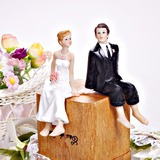 Bride en Bruidegom Hars Huwelijk Taarttoppers (122036175)