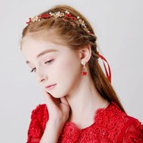 With Flower/Pearl Headbands/Earclip (Set of 2) (198189099)