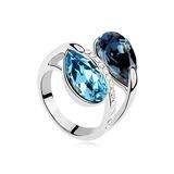 Uniek Platina Vergulde met Strass Dames Ringen (011053706)