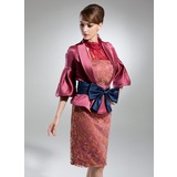 Half-Sleeve Satin Special Occasion Wrap (013015446)