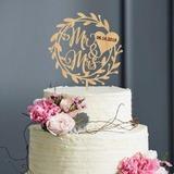 Personalizzato Corona/Rustico Legno Decorazioni per torte (119205808)