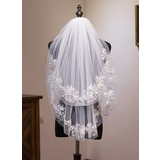 Two-tier Shoulder Veils With Lace (006183219)