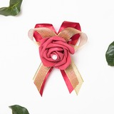 Free-Form Satin Wrist Corsage (Sold in a single piece) - (123176642)