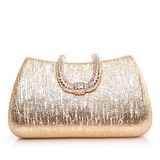 Fashional Patent Leather With Rhinestone Clutches (012028447)