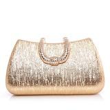 Fashional Couro Brilhante com Strass Embreagens (012028447)