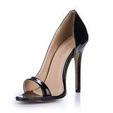 Женщины Лакированная кожа Высокий тонкий каблук Сандалии На каблуках Открытый мыс обувь (087051694)
