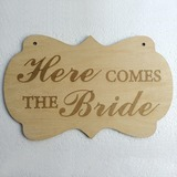 Attraente/Stile classico Legno Wedding Sign (131201549)