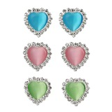 в форме сердца смола Металл женские серьги (137052306)