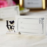 Liefde Ontwerp Chroom Place-kaarthouders (Set van 4) (089025020)