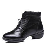 Frauen Echtleder Spitze Tanzschuhe Moderner Style Sneakers Ballsaal Tanzschuhe (053182625)