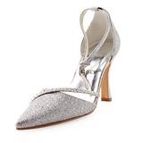 Mulher Espumante Glitter Salto agulha Fechados Plataforma com Imitação de Diamantes (047010755)