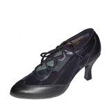 Mulheres Couro Saltos Bombas Swing Sapatos de dança (053018565)