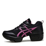 Unisex Leatherette Mesh Sneakers Modern Sneakers Practice Dance Shoes (053201962)