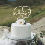 Personalizzato Compleanno/Elefante Acrilico/Legno Decorazioni per torte (119205813)
